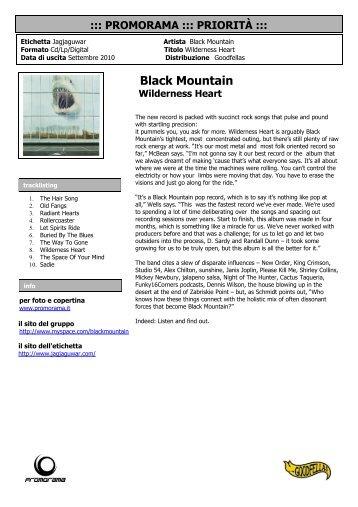 Black Mountain Wilderness Heart - Promorama