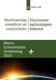 Macro Economische Verkenning 2013 + - Platform Duurzame en ...