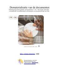 Dematerialisatie van de documenten - Jette
