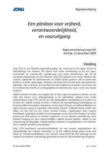 Beginselverklaring - Enzu - Jong VLD
