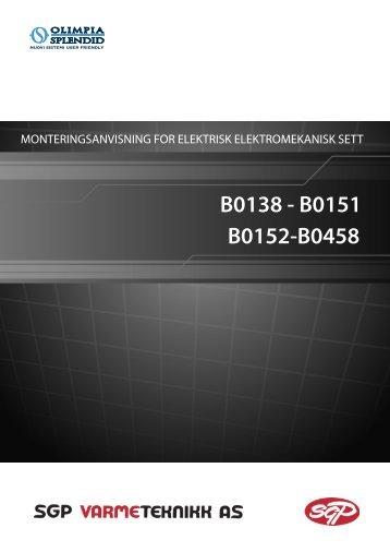 Monterings- og bruksanvisning for B0138-B0151-B0152-B0458 - SGP