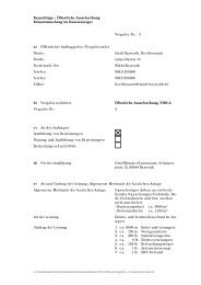 Öffentliche Ausschreibung Bekanntmachung im ... - Stadt Bayreuth