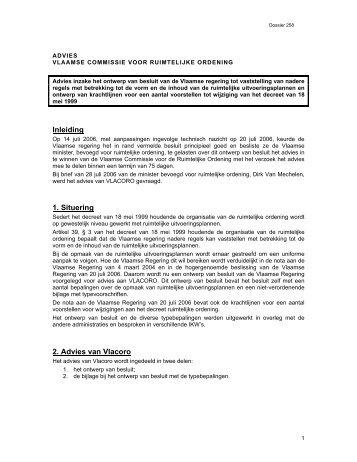 Inleiding 1. Situering 2. Advies van Vlacoro