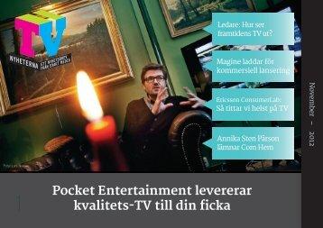 Pocket Entertainment levererar kvalitets-TV till din ficka - TV-Nyheterna