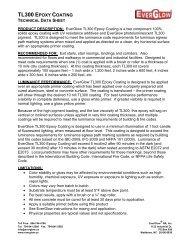 EverGlow TL300 Epoxy Coating Technical Data Sheet