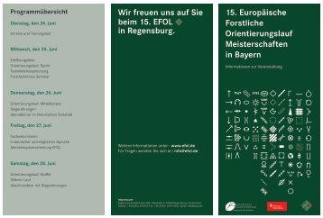 15. Europäische Forstliche Orientierungslauf Meisterschaften in ...