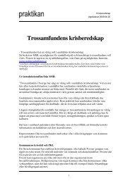 Trossamfundens krisberedskap - Sveriges Kristna Råd