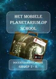 Mobiel planetarium - Borgmanschool