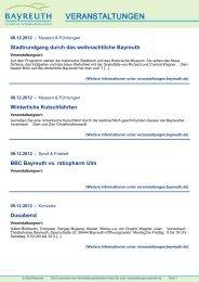 Requiem in D-Moll von Wolfgang Amadeus Mozart - Stadt Bayreuth