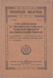 Schets van de Geschiedenis der Vrijmetselarij en een verslag van ...