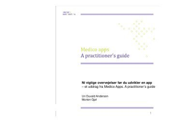 1 Ni vigtige overvejelser før du udvikler en app - Medico Innovation