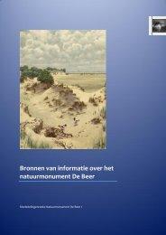 Bronnen van informatie over het natuurmonument De Beer