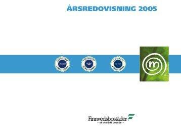 ÅRSREDOVISNING 2005 - Finnvedsbostäder AB