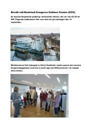 Besök vid Karlstad Congress Culture Centre (CCC)