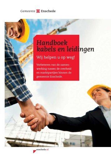 Handboek kabels en leidingen - Gemeente Enschede