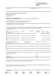 Antrag aus Ausfallbürgschaft (BOB) - Bürgschaftsbank NRW