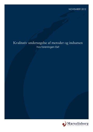 Kvalitativ undersøgelse af metoder og indsatsen - Exit