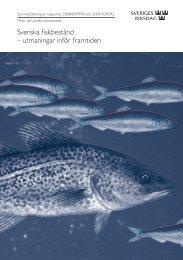 Svenska fiskbestånd – utmaningar inför framtiden (pdf ... - Riksdagen