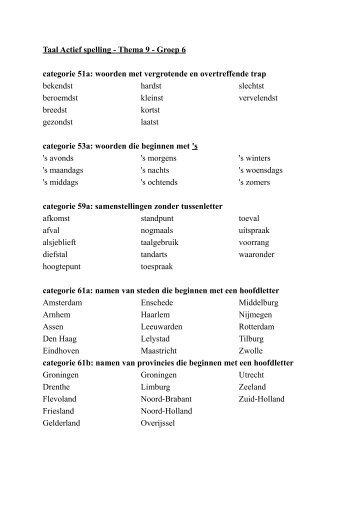 Populair Taal Actief spelling - Thema 7 - Groep 6 - Juf Hannah @JY83