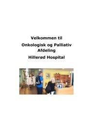 Velkommen til Onkologisk og Palliativ Afdeling Hillerød Hospital