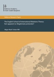 The English School of International Relations Theory - Defence ...