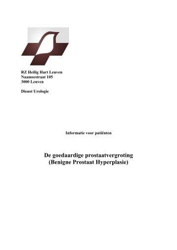 De goedaardige prostaatvergroting (Benigne ... - Wat is Urologie?