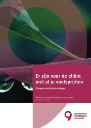 werkboek 'Er zijn voor de cliënt met al je voelsprieten' - Vilans