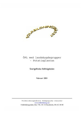 Proj Potatisplantan.pdf - Pedagogiska Resurser - Folkbildningsnätet