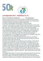 Lemviggruppen 2011 - Nyhedsbrev nr.13 : Så er vi ... - Lemvig kirkerne