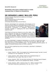 DR GERARDO LAMAS MULLER, PERU - Inkaterra
