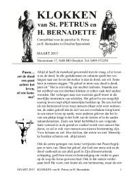 PDF-uitgave Klokken - Parochie Sint Petrus Oirschot