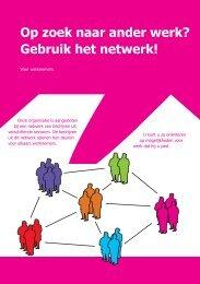 Op zoek naar ander werk? Gebruik het netwerk! - J2J Twente