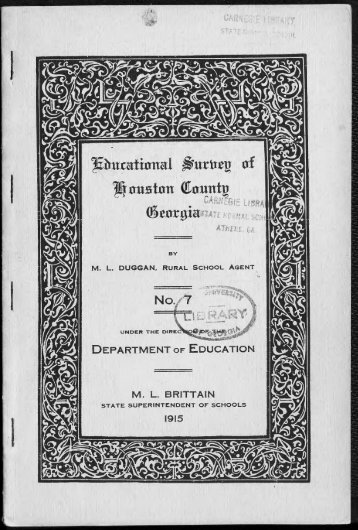 EDUCATIONAL SURVEY OF HOUSTON COUNTY, GEORGIA - NO. 7