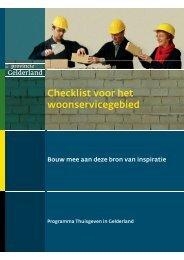 Brochure Checklist voor het woonservicegebied - In voor zorg!