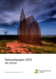 verksamhetsplan 2013 - Regionförbundet Örebro