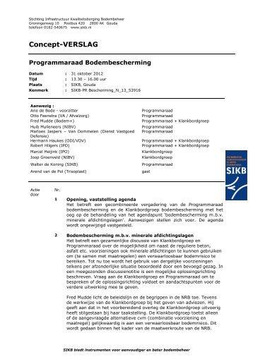 verslag 31 oktober 2012 - SIKB