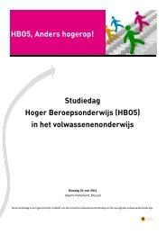 HBO5, Anders hogerop! Studiedag Hoger Beroepsonderwijs ... - Leido