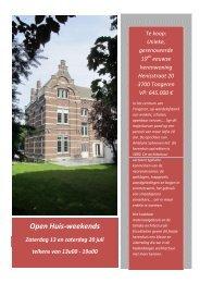 Open Huis-weekends - Hebbes.be!