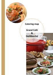 Bankqueting Map Grand Café & DeliMarché - catering