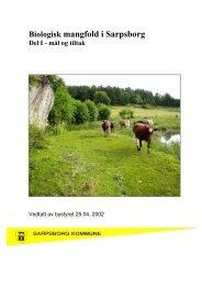 tiltaksplan for biologisk mangfold. - Sarpsborg kommune