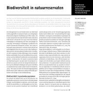 Biodiversiteit in natuurreservaten - Onderzoekcentrum B-WARE