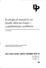 a preliminary synthesis - Native Fish Lab of Marsh & Associates LLC