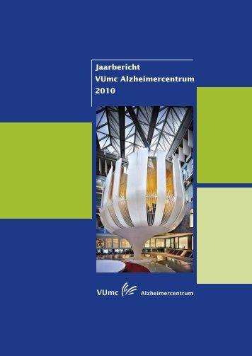 Jaarbericht VUmc Alzheimercentrum 2010