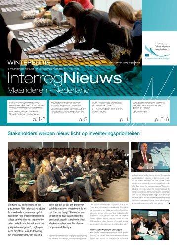 nieuwsbrief december 2012 - Interreg Vlaanderen Nederland