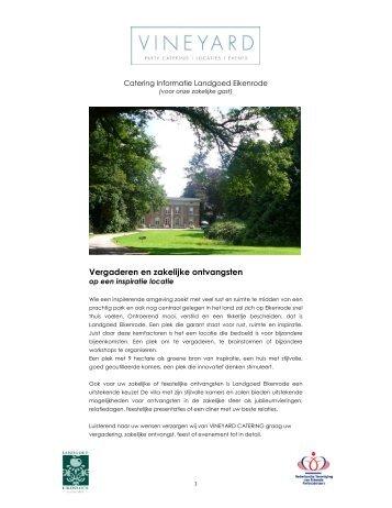 Vergaderen en zakelijke ontvangsten - Eikenrode.com