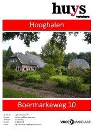 Brochure Boermarkeweg 10 te Hooghalen - Huys Makelaars