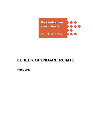 BEHEER OPENBARE RUIMTE - Gemeente Wijdemeren