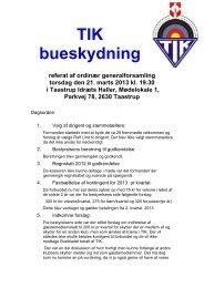 Referat fra generalforsamlingen - TIK Bueskydning