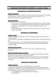 Reglement betreffende het subsidiëren van kadervorming