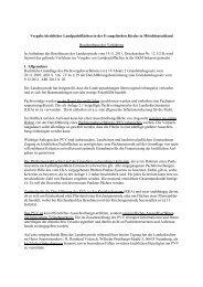 Verfahren der Vergabe kirchlicher Landpachtflächen in der EK